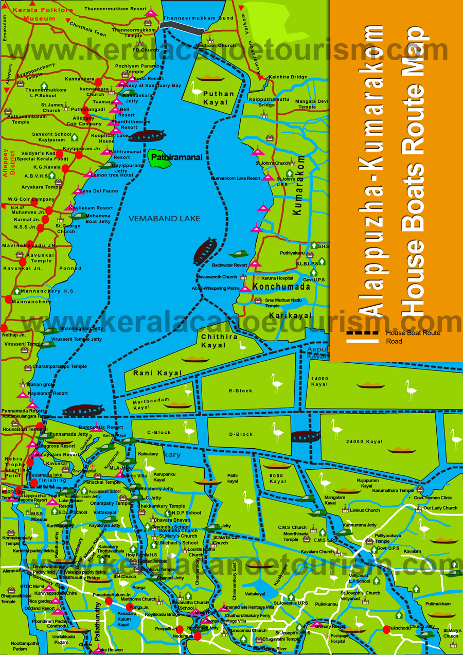 Alleppey Town Map